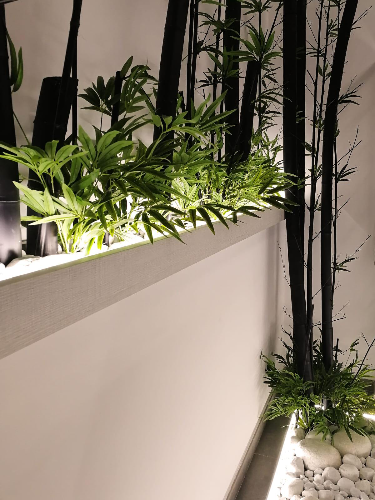 diseño-interiores-entrada-vivienda-escalera-bambu-JM-05_HIDROJARDIN-Bañeres